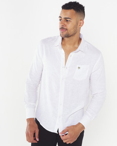 African Paradise Summer Long Sleeve Shirt White