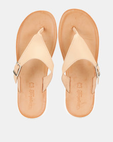Angelsoft Kim Leather Sandals Nude
