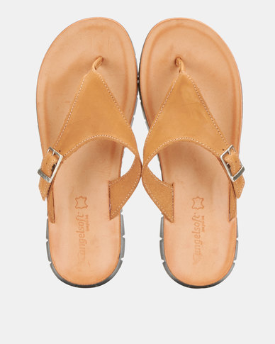 Angelsoft Kim Leather Sandals Tan
