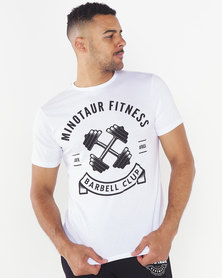 Minotaur Fitness Barbell Club Tee White