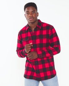 Levi's ® Check Classic Worker Shirt Black &  Red