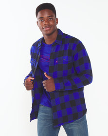 Levi's ® Check Classic Worker Shirt  Black &  Blue