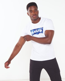 Levi's ® Housemark Tee with Blue Graphic White