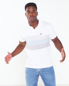 Levi's ® Storage Stripe Housemark Polo Shirt White