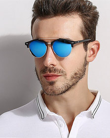 Naked Eyewear Raven Polarised Sunglasses - Blue