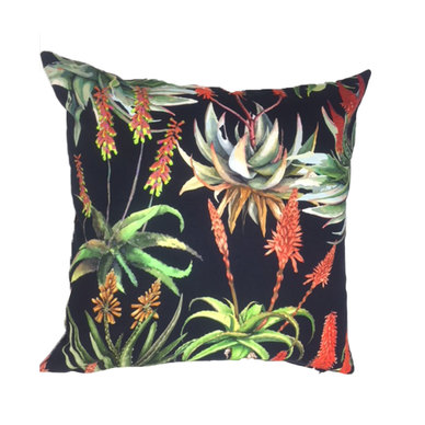 Amore Home Aloes Black Scatter Cushion with Inner