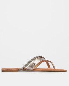 Franco Gemelli Velma Slip On Sandals Pewter