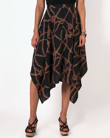 Marique Yssel Hanky Skirt - Black Chain