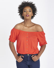 Contempo Knit Gypsey Top Red
