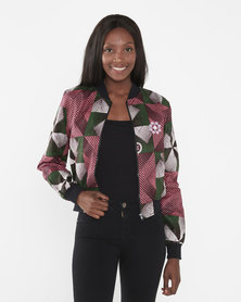 Chepa Lelo Printed Summer bomber Jacket Multi