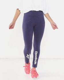 Reebok Ladies Lf Leggings Blue
