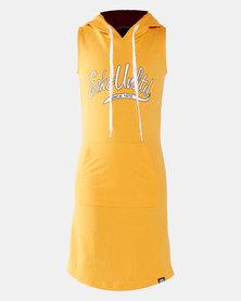 ECKÓ Unltd Hooded Dress Mustard