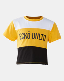 ECKÓ Unltd Girls Colour Block Cropped Top Multi