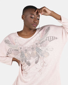 UB Creative Jersey Knit Print Top