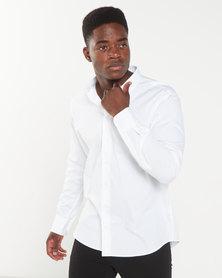 Polo Mens Craig Custom Fit Work Shirt White