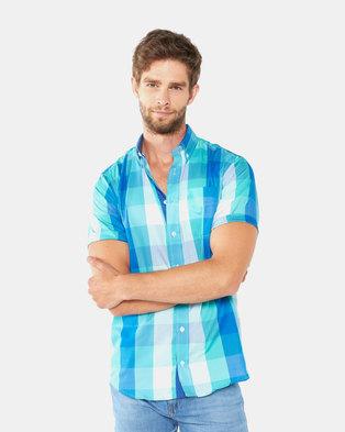 Polo Mens Weekender Short Sleeved Shirt Sea Green