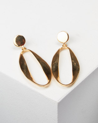 All Heart Large Drop Earrings Gold