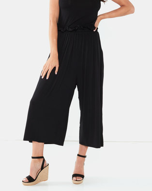 Michelle Ludek Molly Cropped Wide Pants Black