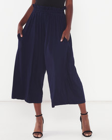 Michelle Ludek Molly Cropped Wide Pants Navy