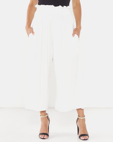 Michelle Ludek Molly Cropped Wide Pants White