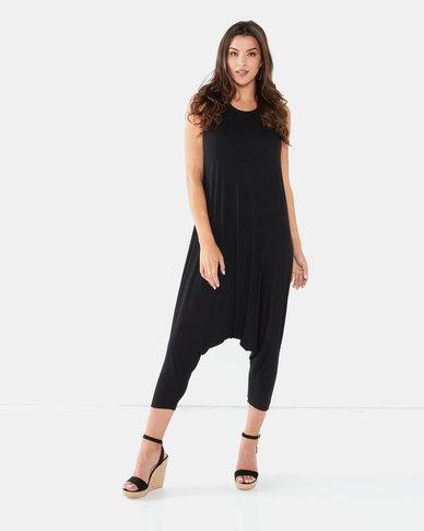 Michelle Ludek Lula Cropped Jumpsuit Black