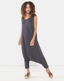 Michelle Ludek Lula Cropped Jumpsuit Charcoal