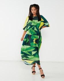 Michelle Ludek Geo Print New Kaftan Green
