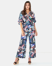 Michelle Ludek Tropical Print Christine Jumpsuit Multi