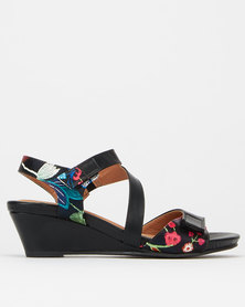 SOA Hazel Wedge Sandals Black