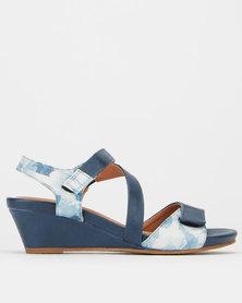 SOA Hazel Wedge Sandals Navy