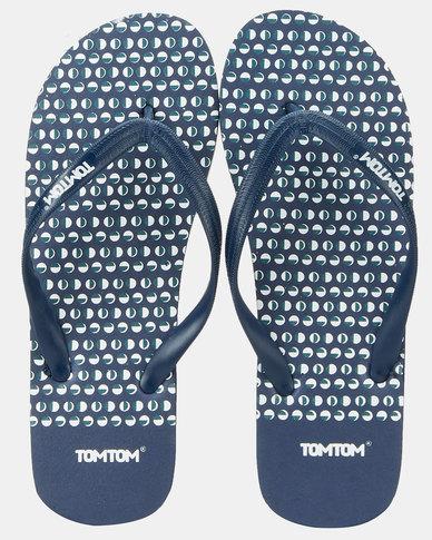 Tom_Tom Wave Spots Flip Flops Navy/ Blue