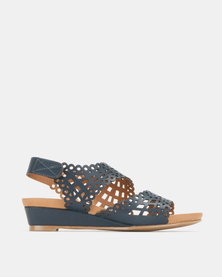 SOA Belle Flat Sandals Navy