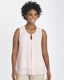 Contempo Double Layer Bar Trim Top Pink
