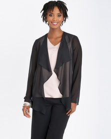 Contempo Soft Waterfall Jacket Black