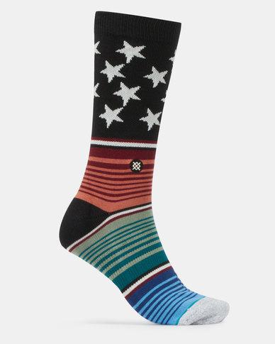 Stance Americana Glitch Socks Multi