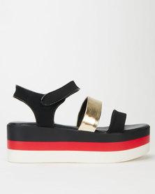 PLUM Nikita Sandals Black/Gold
