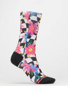Stance Crazy Daisy Crew Socks Multi