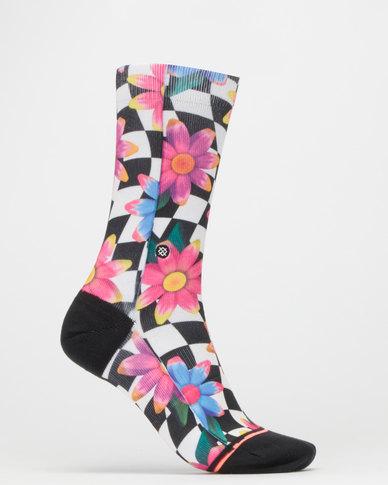 Stance Crazy Daisy Crew Socks Multi