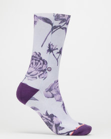 Stance Rebel Rose Crew Socks Multi