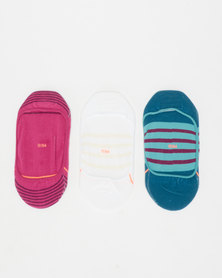 Stance Rebel Mauve Pack Socks Multi
