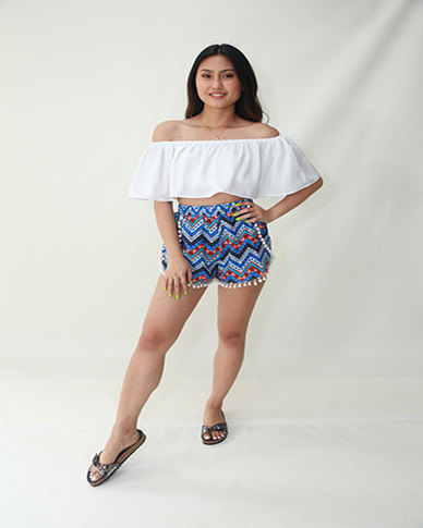 INFIN8TI Aztec Bobble Shorts