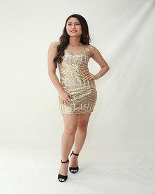 INFIN8TI Aztec Sequin Dress