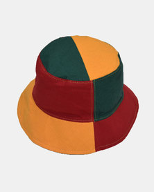 SKA Rasta Bucket Hat Red, Yellow and Green