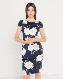 Closet London Tulip Tie Back Dress Multi