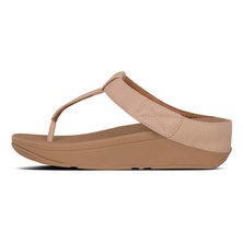 FitFlop Mina Leather Adjustable Beechwood