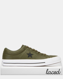 Converse One Star Leather OX Sneakers Herbal/Black