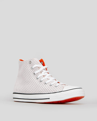 Converse CTAS Campus Style Hi Sneakers White/Bold Mandarin
