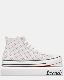 Converse CTAS Campus Style Hi Sneakers White/Bold Mandarin