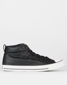 Converse CTAS Street Leather Mid Sneakers Black/White