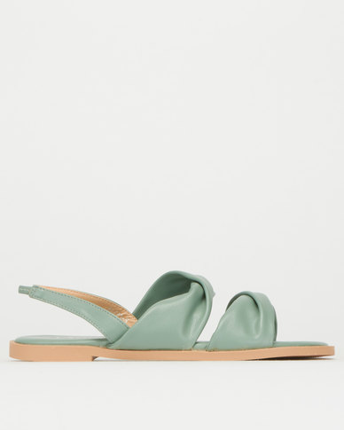 Utopia Soft Twisted Upper Sandals Green